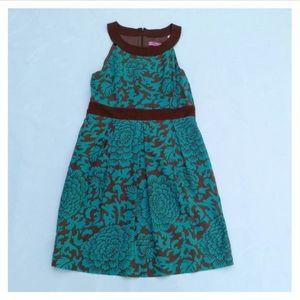 Eliza J US 14 Sleeveless Linen Floral Summer Dress